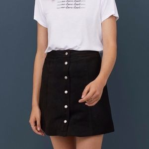 {2 for $20} H&M A-Line Faux Suede Black Skirt